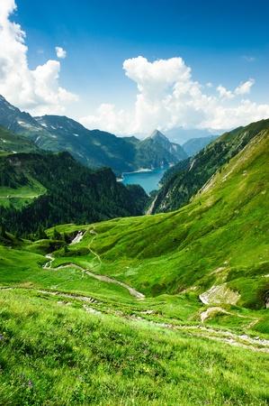 Photo for Lago di Luzzone, upper Blenio valley, Tessin, Switzerland - Royalty Free Image