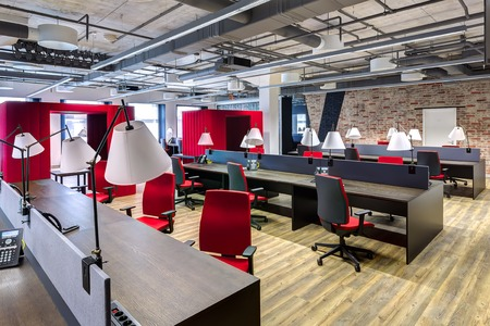 Photo for Large modern office with open space to work - Royalty Free Image