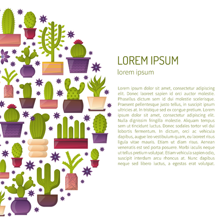 Vector Illustration With Cartoon Isolated Cactus Vector House Plant In Flowerpot Home Interior Background Desert Mexican Succulent Home Flowers Cartoon Indoor Objects Travel To Mexico Icon Royalty Free Vector Graphics