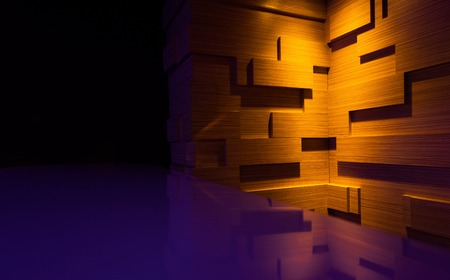 Photo pour wooden wall and a blue. background image. - image libre de droit