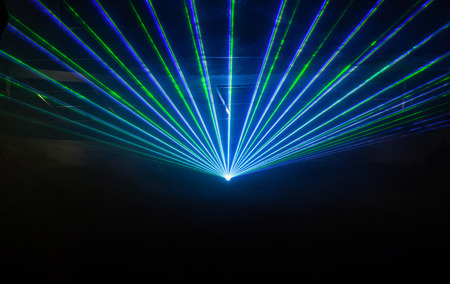 Photo pour Disco light show, Stage lights with laser - image libre de droit