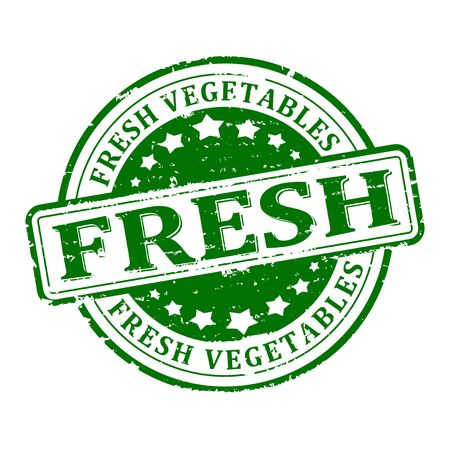 Scratched green round stamped - fresh vegetables