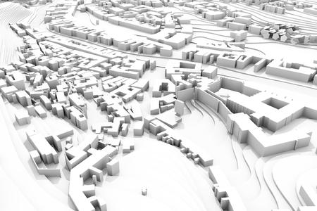 Foto de 3d city master plan, construction concept view - Imagen libre de derechos