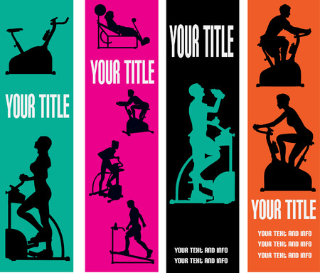 Illustration pour Exercise Web Banner Templates - image libre de droit