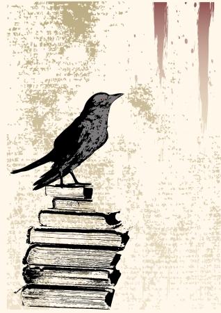 Illustration pour Raven Grunge Background - image libre de droit
