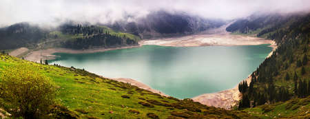 Panorama of Big Almaty Lake (BAO) Kazakhstan