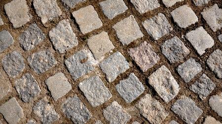 pavement of stone cubes