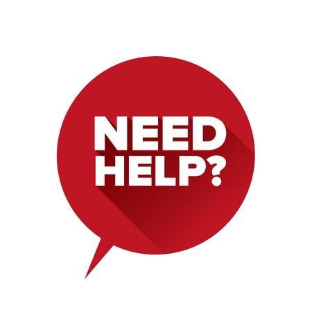 Need help? Flat design vector
