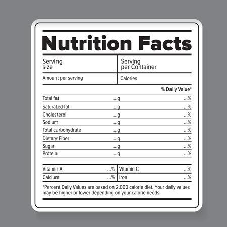 Illustration pour Nutrition facts - image libre de droit