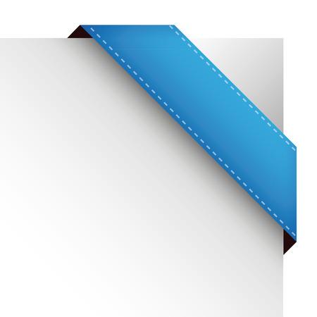 Vector corner ribbon blue