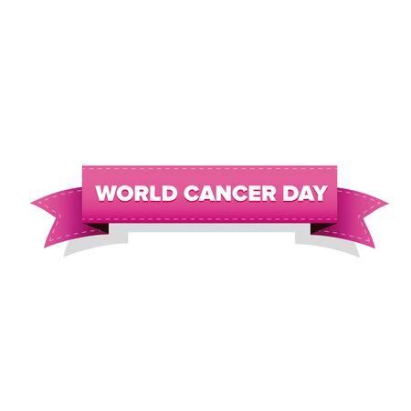 World cancer day ribbon vector
