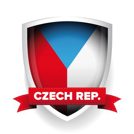 Czech republic flag shield
