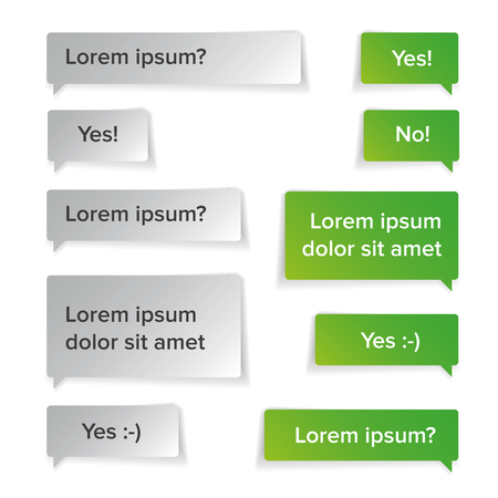 Illustration for Vector conversation speech bubbles green - Royalty Free Image