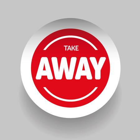 Illustration pour Take Away sticker vector - image libre de droit
