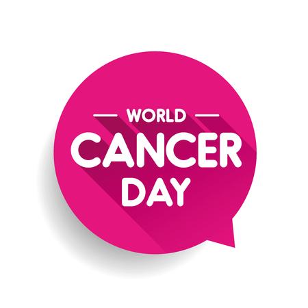 World Cancer Day Speech bubble