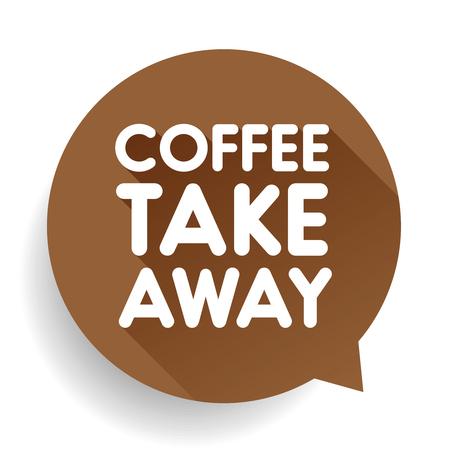 Illustration pour Coffee take away sticker vector - image libre de droit