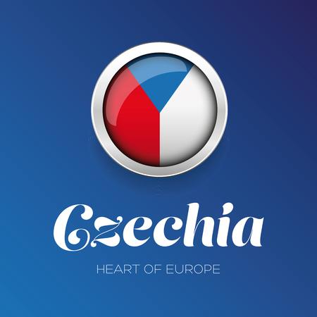 Czech Republic - Czechia flag button