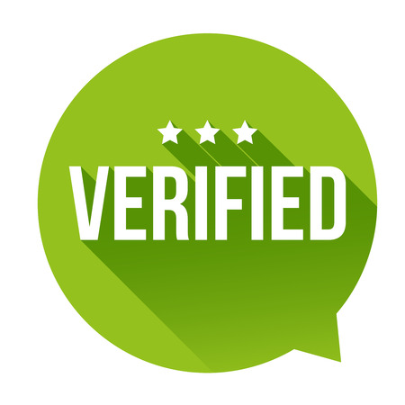 Verified badge vector speech bubble