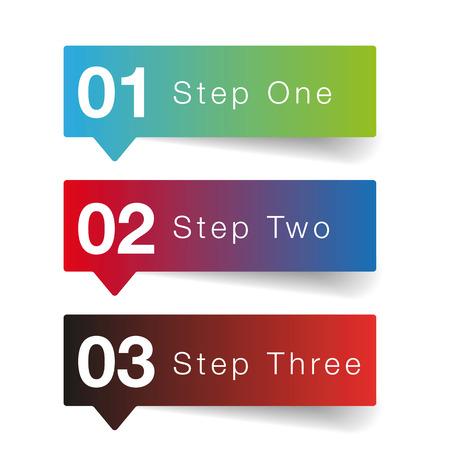 Illustration pour One two three Oprion progress vector - image libre de droit