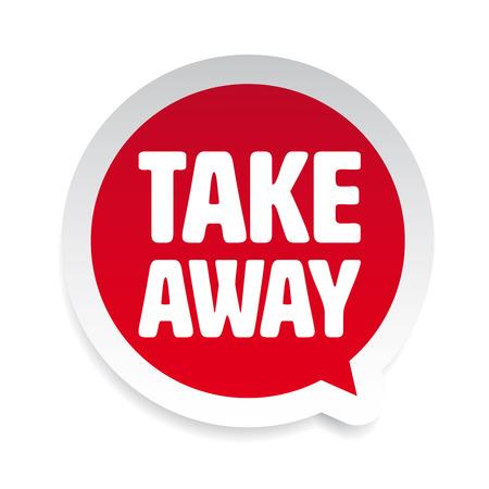 Illustration pour Take Away label tag speech bubble - image libre de droit