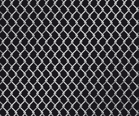 Abstract vector illustration of a wire linked fence