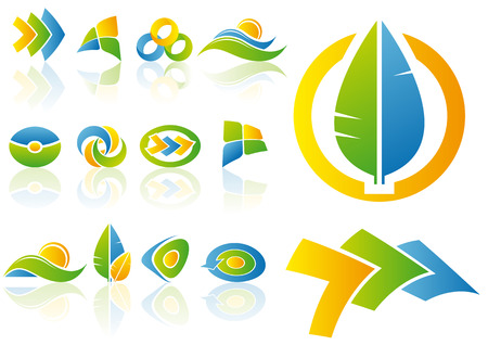Illustration for Abstract vector illustration set of logo and design elements - Royalty Free Image
