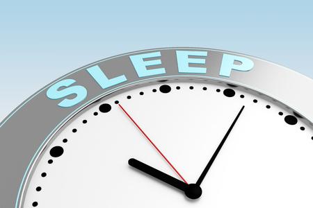 Photo pour concept time to sleep. 3d rendering - image libre de droit