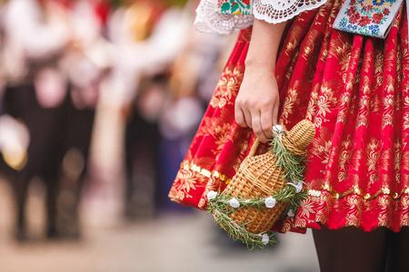 Photo pour Czech woman costume - image libre de droit