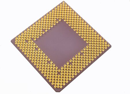 Very close view of a computer cpu