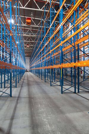 Photo for Interior of a modern warehouse ,clean and empty - Royalty Free Image