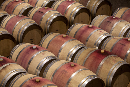 Photo for Wooden barrels in a cellar - Royalty Free Image