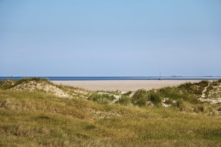 view over the dunes at the north sea in germany
