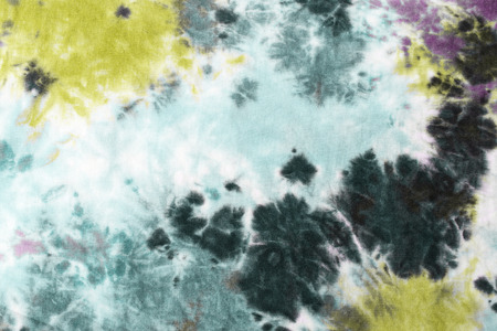 Foto de tie dyed pattern on cotton fabric abstract background. - Imagen libre de derechos