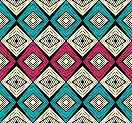 Illustration for African fashion seamless pattern ornament in vibrant colours, picture art and abstract background for Fabric Print, Scarf, Shawl, Carpet, Kerchief, Handkerchief, vector. - Royalty Free Image