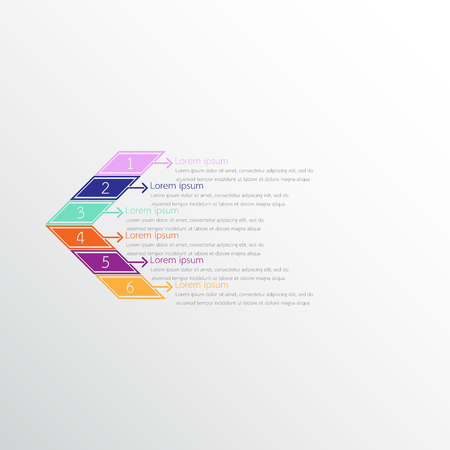 Vector infographic templates used for detailed reports. All 6 topics.