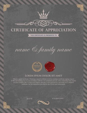 Illustration pour Certificate template. - image libre de droit