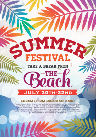 poster summer party and brochure