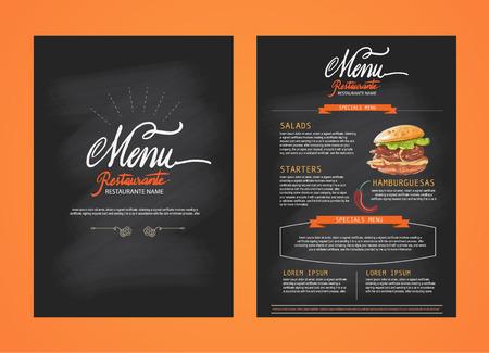 Vecteur De Restaurant Menu Template Id 43272639 Image Libre De