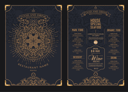 premium restaurant cafe menu, template design.