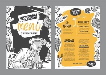 Foto per Creative menu design. Menu template and layout menu. - Immagine Royalty Free