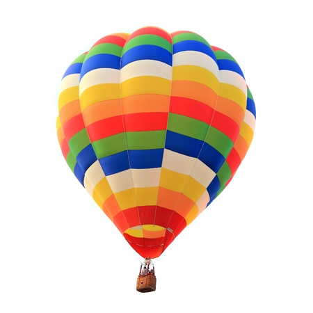 balloon hot air isolated white background