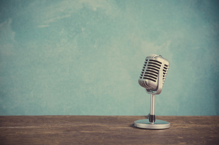 Photo for Retro style microphone - Royalty Free Image