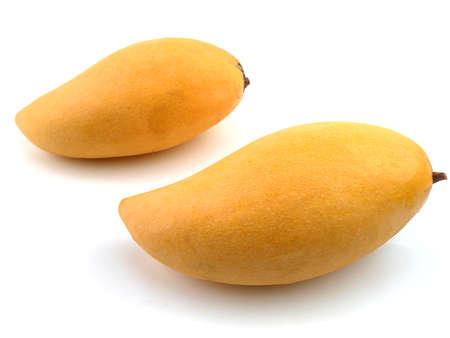 Photo for Mango of Thailand fruits of famous, Mangifera indica on white background - Royalty Free Image