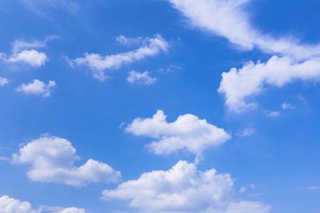 Photo pour Blue sky background with white clouds, rain clouds on sunny summer or spring day. - image libre de droit