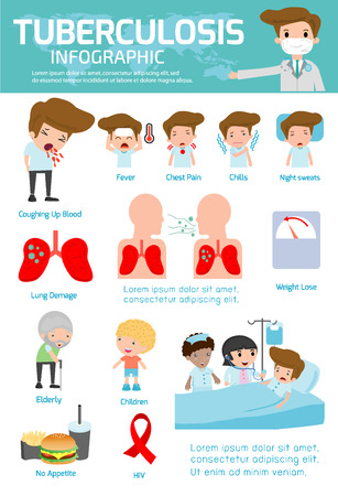 Tuberculosis element infographics, Medical and healthcare Infographic, tuberculosis,Tuberculosis vector infographic, set elements and symbols for design,vector illustration.tb,