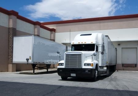 Photo for Truck at warehouse bay - Royalty Free Image