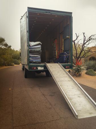 Moving truck van home