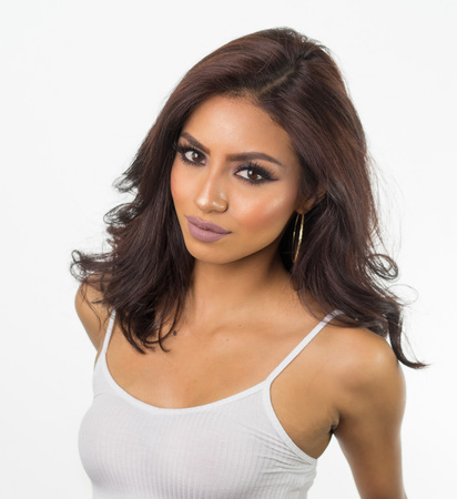 Beautiful woman's face and hair