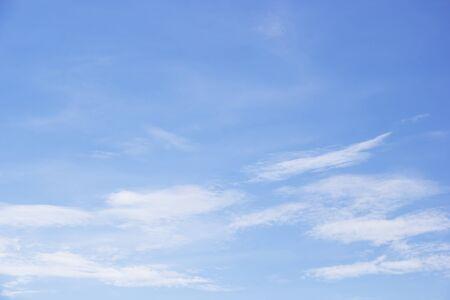 Photo pour Fantastic soft white clouds against blue sky and copy space - image libre de droit