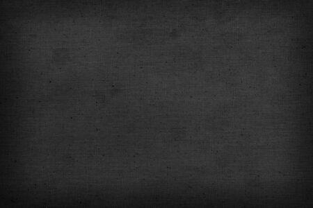 Photo pour Black old linen fabric texture or background and copy space - image libre de droit